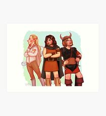 The Fellowship of 70s Fantasy Fashion Art Print