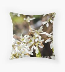 Bee - Nice and-Still Throw Pillow