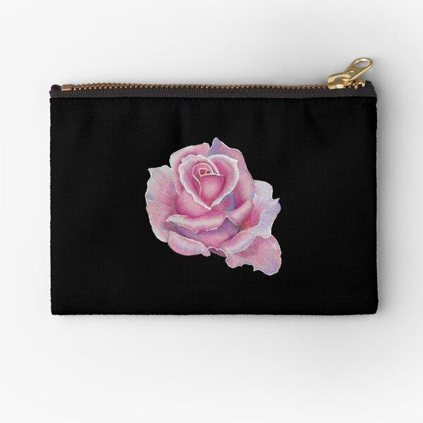 Pretty Pink Rose Zipper Pouch