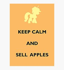 Keep Calm Apple Jack Photographic Print