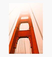 Golden gate  Bridge in the fog Photographic Print