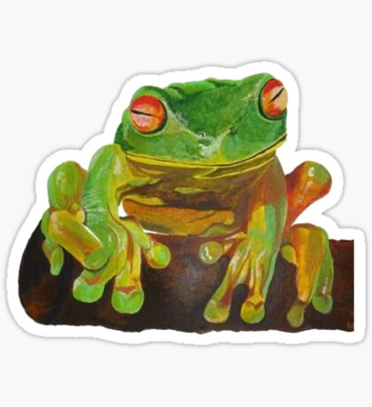 Cute Red Eyed Tree Frog Sticker