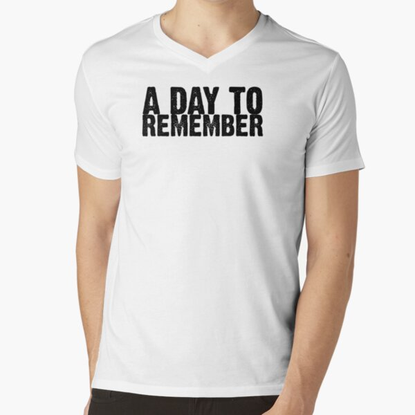 A Day To Remember - Black V-Neck T-Shirt
