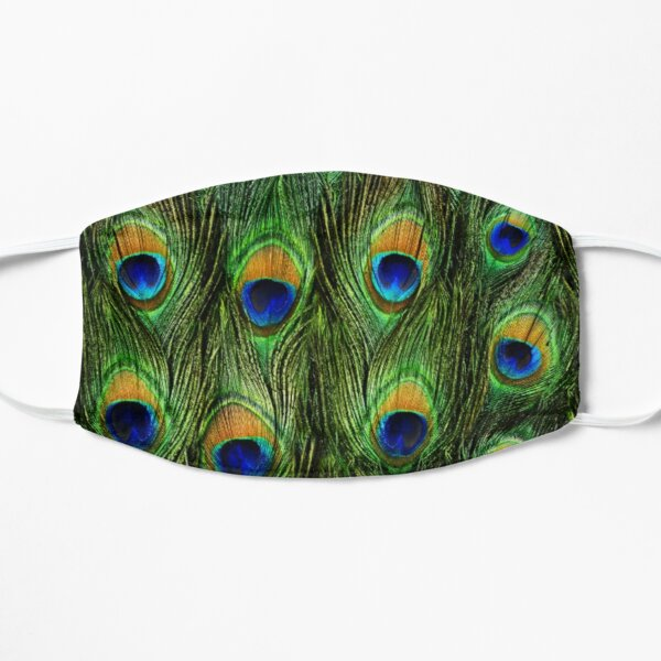 Peacock Feathers and Indigo Velvet Mask