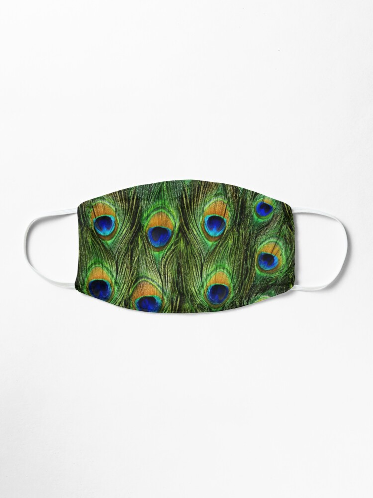 Alternate view of Peacock Feathers and Indigo Velvet Mask