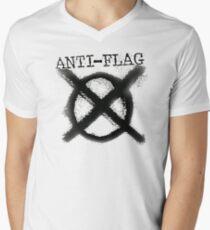 Anti-Flag Mens V-Neck T-Shirt
