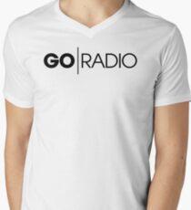 Go Radio Mens V-Neck T-Shirt