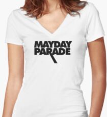 Mayday Parade Women's Fitted V-Neck T-Shirt