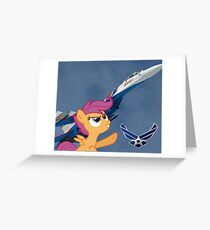Scootalo Airforce Greeting Card