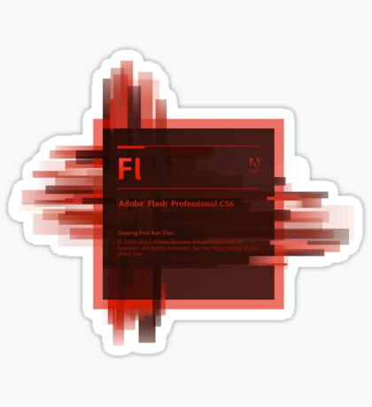 Adobe Flash Splash Screen Sticker