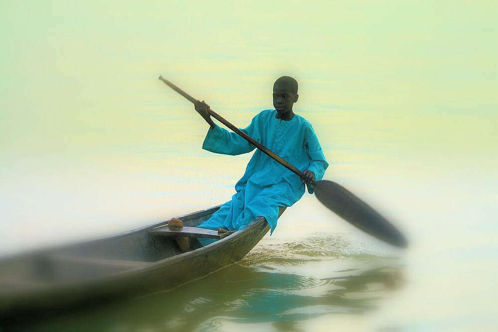 Returning from all night fisihing. River Niger-Nigeria. by joshuatree2