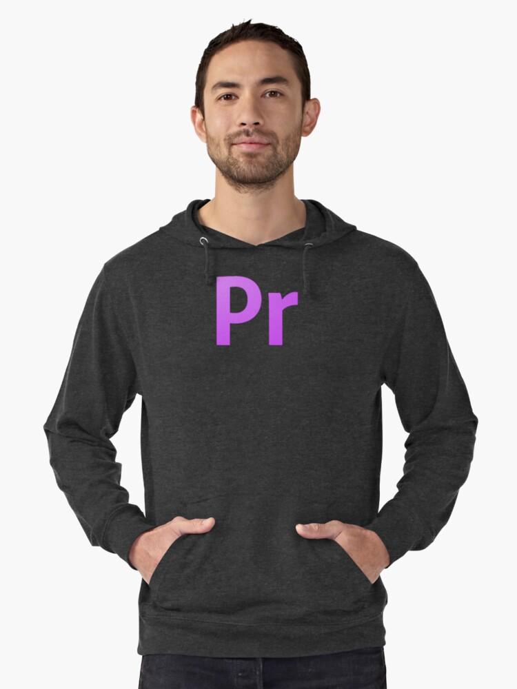 Adobe Premier  Lightweight Hoodie Front
