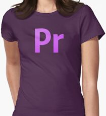 Adobe Premier  Women's Fitted T-Shirt