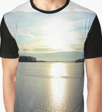 Herrestadsjön in winter season Graphic T-Shirt