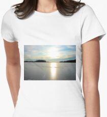 Herrestadsjön in winter season Women's Fitted T-Shirt