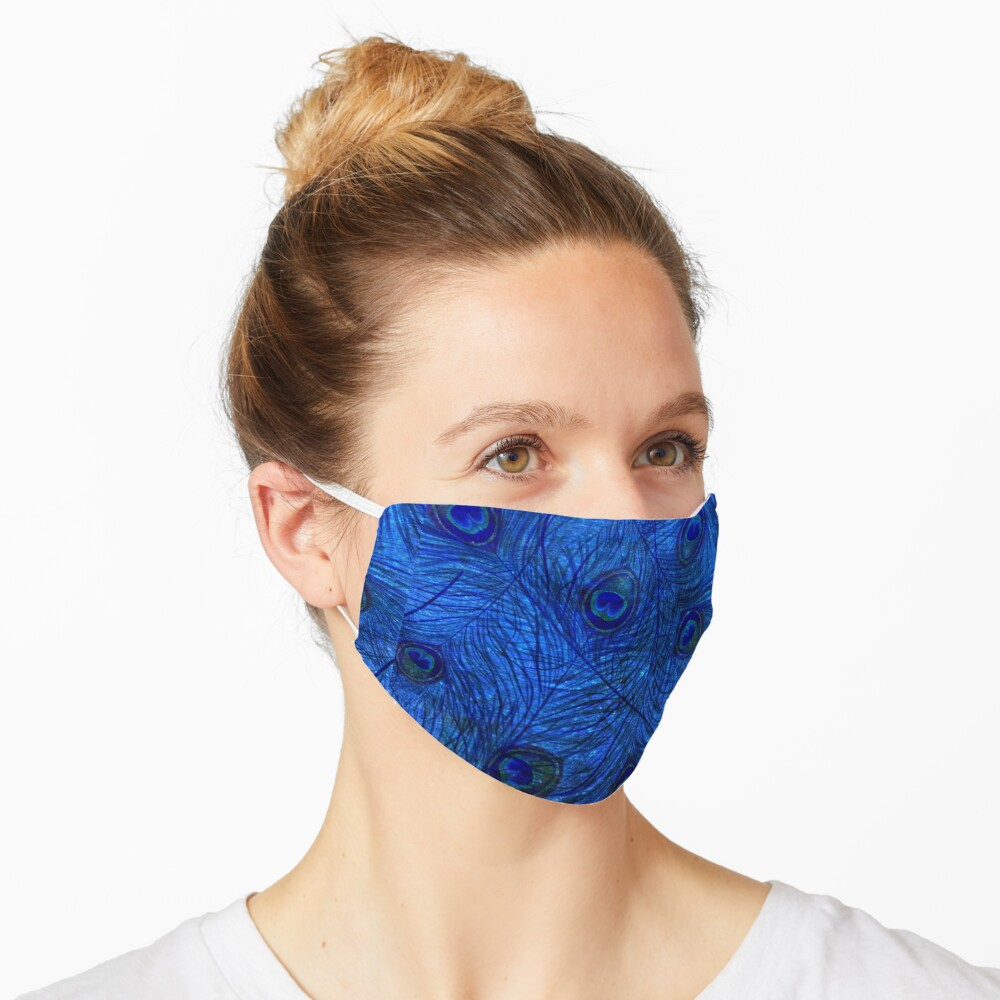 Indigo Peacock  Mask