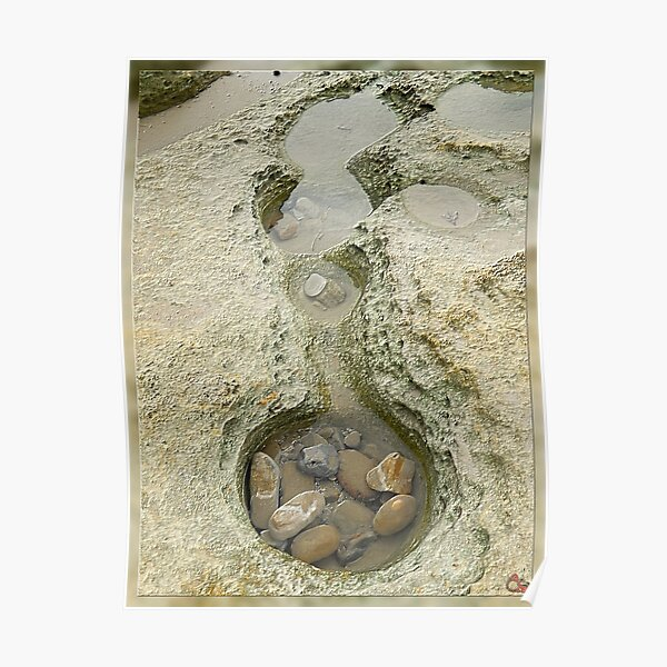 North-West Coast Tasmania ~ Rock Pool ~ D1G1TAL-M00DZ ~ GALERIEBORD ~ STRANDGUT ~ GALLIMAUFRY ~ by tasmanianartist 240520 Poster