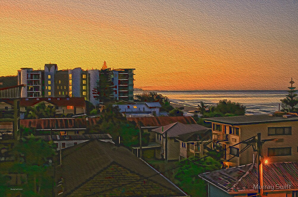 Seaside Sunset by Murray Swift