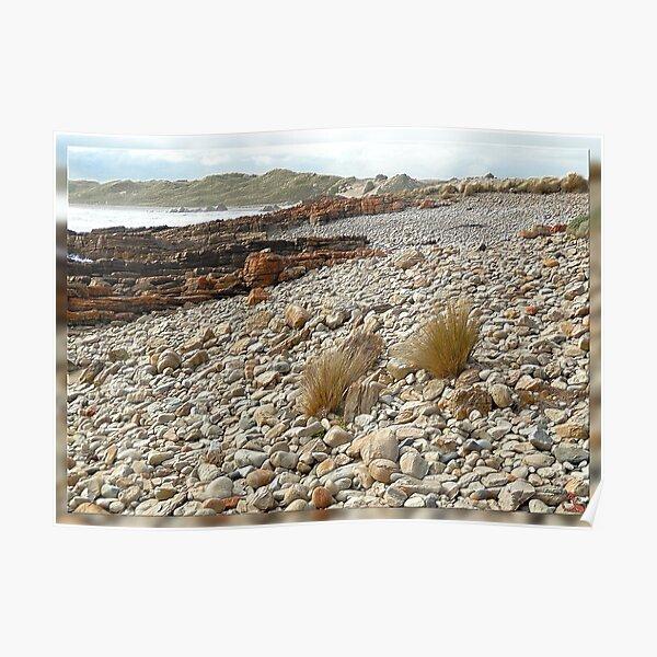 North-West Coast Tasmania ~ Just Rocks ~ D1G1TAL-M00DZ ~ GALERIEBORD ~ STRANDGUT ~ GALLIMAUFRY ~ by  tasmanianartist 240520 Poster