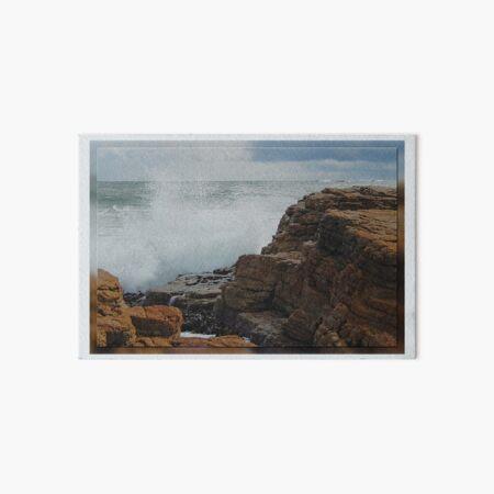North-West Coast Tasmania ~ Wave Breaking on Rocks ~ D1G1TAL-M00DZ ~ GALERIEBORD ~ STRANDGUT ~ GALLIMAUFRY ~ by tasmanianartist 240520 Art Board Print