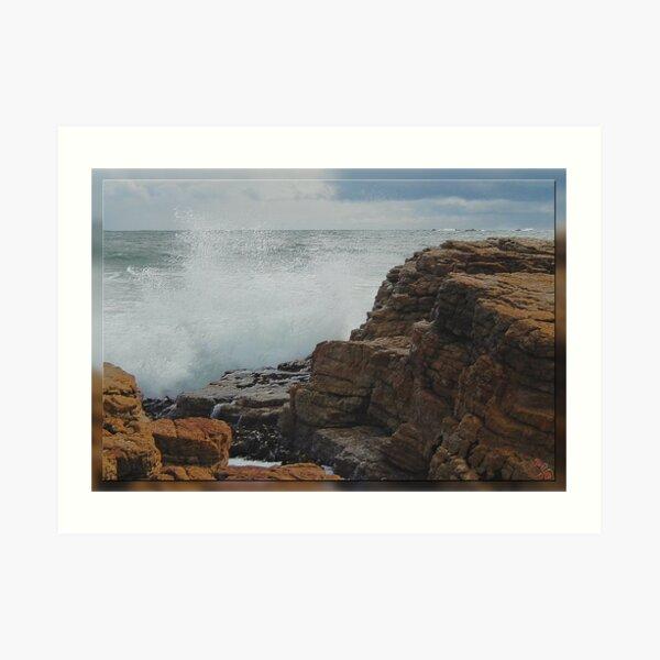 North-West Coast Tasmania ~ Wave Breaking on Rocks ~ D1G1TAL-M00DZ ~ GALERIEBORD ~ STRANDGUT ~ GALLIMAUFRY ~ by tasmanianartist 240520 Art Print