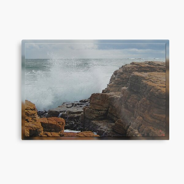 North-West Coast Tasmania ~ Wave Breaking on Rocks ~ D1G1TAL-M00DZ ~ GALERIEBORD ~ STRANDGUT ~ GALLIMAUFRY ~ by tasmanianartist 240520 Metal Print