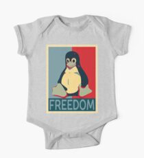 Tux Freedom for Linux Users Kids Clothes