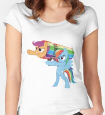 Rainbow Cannon Women's Fitted Scoop T-Shirt