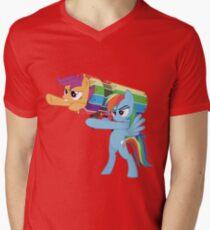 Rainbow Cannon Mens V-Neck T-Shirt