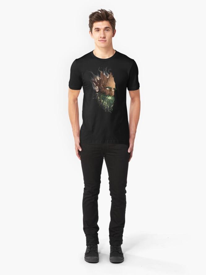 Alternate view of Vegetal Mask - Paul DOUARD Slim Fit T-Shirt