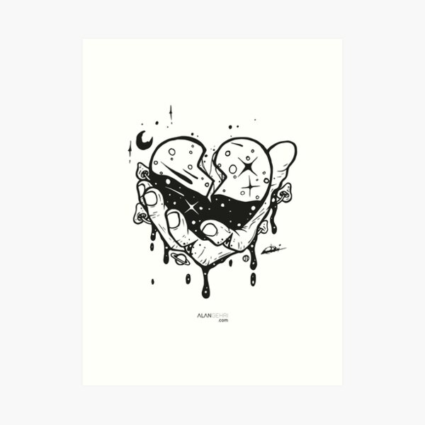 Take my heart and don't break it Art Print