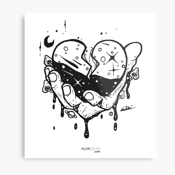 Take my heart and don't break it Metal Print