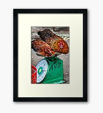 Chicken scales Framed Print