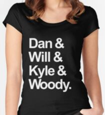Bastille names Women's Fitted Scoop T-Shirt