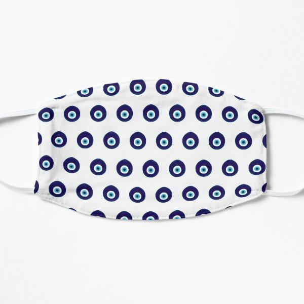Blue Evil Eye Bead Pattern Mask