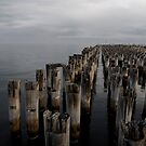 Old Wharf, Port Melbourne. by David Toolan