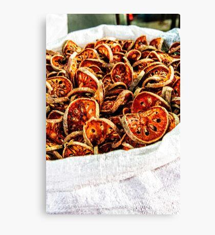 Dried vegetables Canvas Print