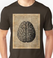 Vintage Human Anatomy Brain Illustration Dictionary Book Page Art Unisex T-Shirt