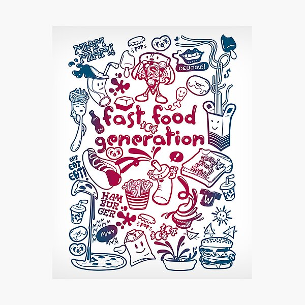 Fast food generation Lámina fotográfica