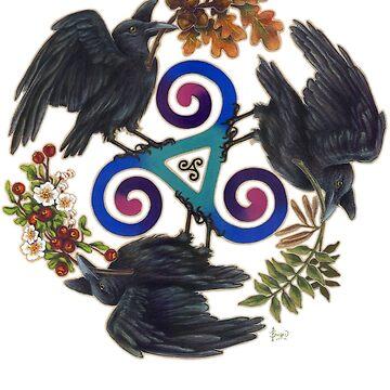 Raven Fey - Triskele by brigidashwood