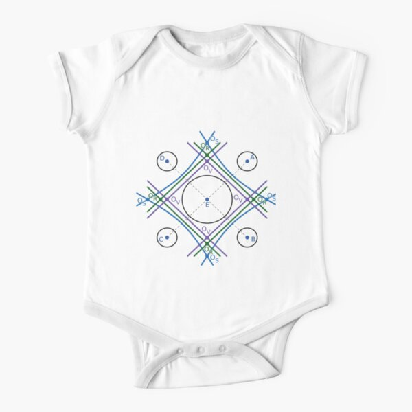 The standard Voronoi cell, Voronoi S cell and radical Voronoi cell of circle E in 2D space Short Sleeve Baby One-Piece
