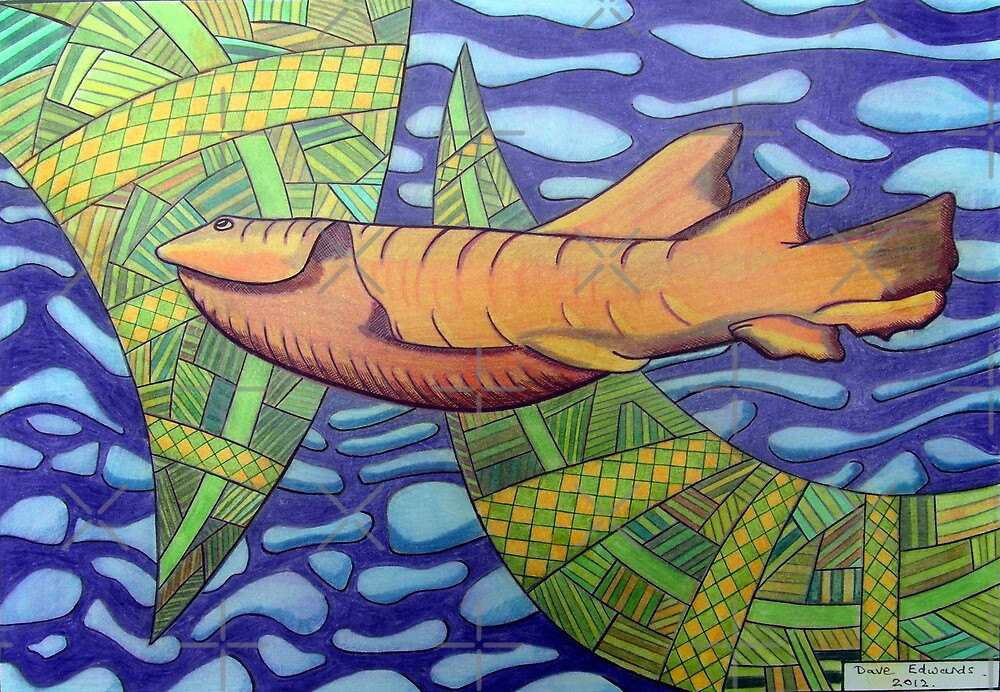 363 - SHARK DESIGN - DAVE EDWARDS - COLOURED PENCILS - 2012 by BLYTHART
