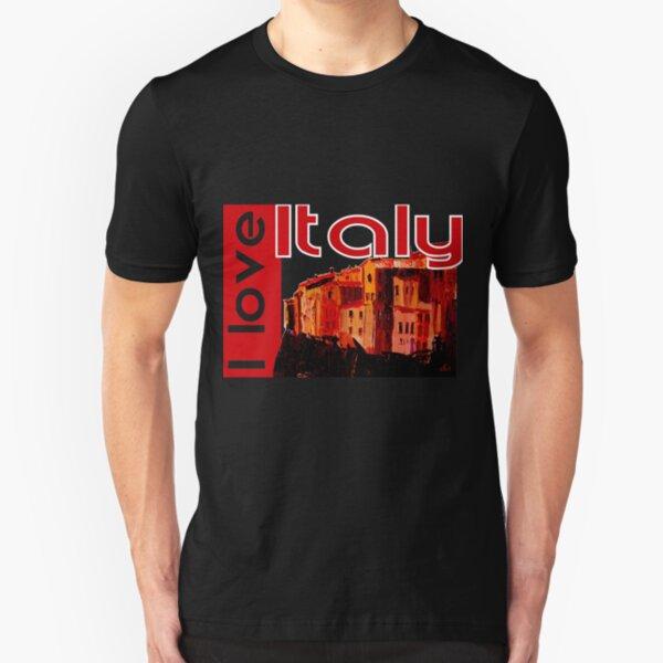 I love Italy! Pitigliano Toskana Slim Fit T-Shirt