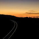 Sunset Tracks by martin bullimore