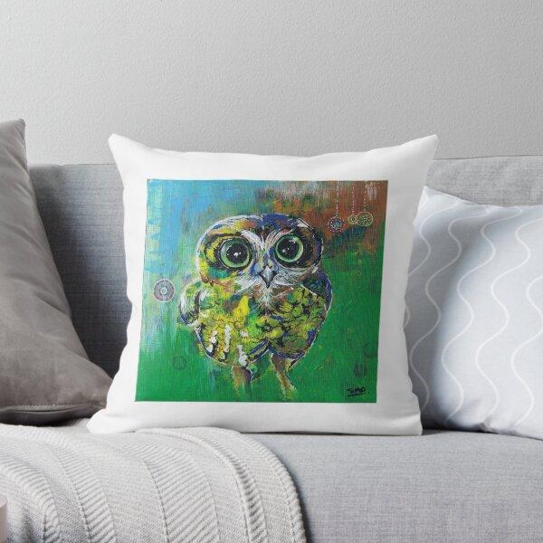 Boo - The Boobook Owl Throw Pillow