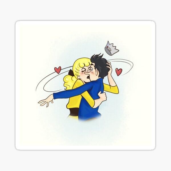 Bughead kiss Sticker