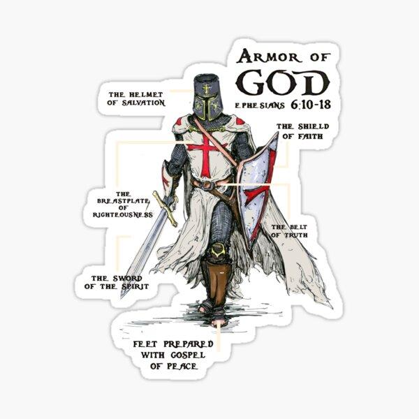 Templier bouclier croix médiéval guerrier épée chevaliers templiers armure de dieu casque emblème Sticker