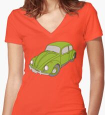 VW Beetle Women's Fitted V-Neck T-Shirt