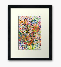 Abstract - Crayon - Mardi Gras Framed Print