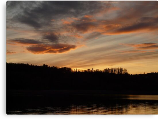 Sunset See Idyll Landscape Sky Clouds Water by HQPhotos